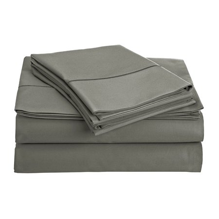 800 Collection (CHATEAU HOME COLLECTION 800-Thread-Count Egyptian Cotton Deep Pocket Sateen Weave King Sheet Set, Charcoal )