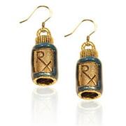 Whimsical Gifts 686G-ER RX Charm Earrings, Gold