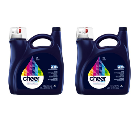 (2 pack) Cheer Colorguard Liquid Laundry Detergent, 96 Loads, 150 fl oz