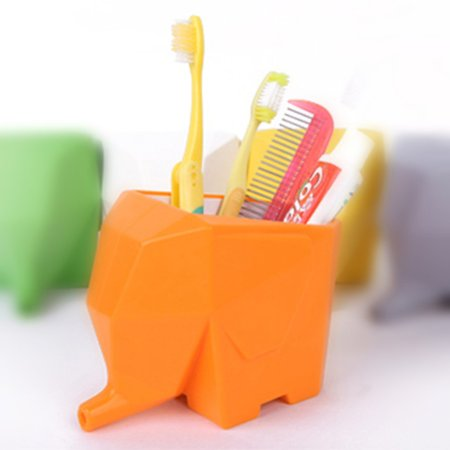 Innovative Draining Box Sacred Geometry Cute Cartoon Elephant Shape Tableware Draining Device Multifunctional Storage Tool Kids Toothbrush Holder Flower Disc