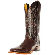 Cinch Western Boots Mens Caiman Belly Square Leather Mahogany CFM560