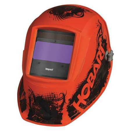 Auto Darkening Welding Helmet,Orange Hobart 770754 by HOBART