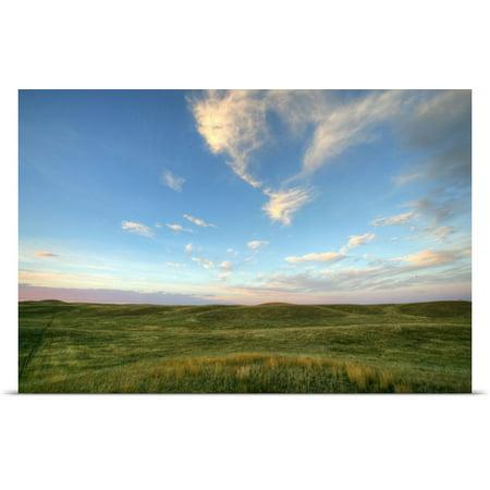 Great Big Canvas Robert Postma Poster Print Entitled Sky At Sunset  Grasslands National Park  Saskatchewan  Canada