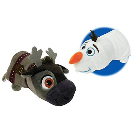 FlipaZoo New! Disney 14 inch Olaf to Sven Frozen Plush Stuff Toy - 2 Toys in 1 - Frozen Sven