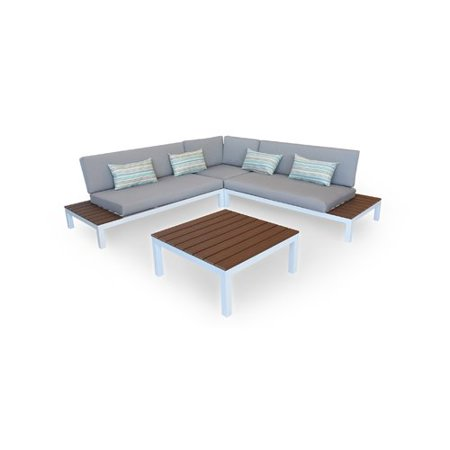 Kardiel Nelson Outdoor Furniture Modern Patio Sofa with Cushions ...