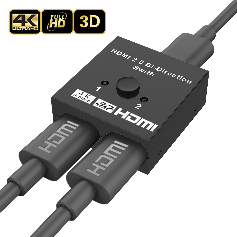 Best Hdmi Switchers - HDMI Switch 4K HDMI Splitter - Aluminum Bi-Directional Review