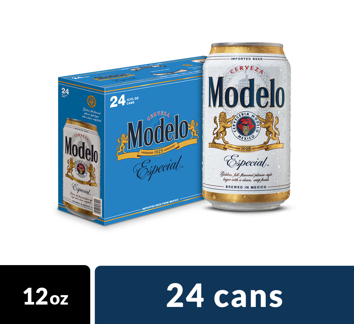 Modelo Especial Import Beer, 24 pk 12 fl oz Cans, 4.4% ABV