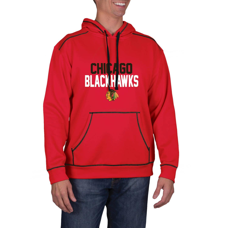 NHL Chicago Blackhawks Big Men's Classic-Fit Long Sleeve Pullover Impact Hoodie