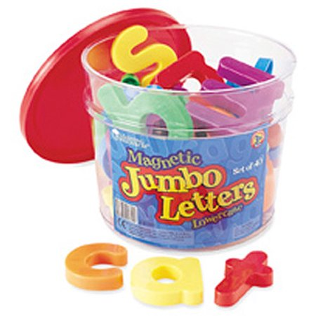 Learning Resources Jumbo Lowercase Magnetic Letters, Set of 40](Jumbo Letters)