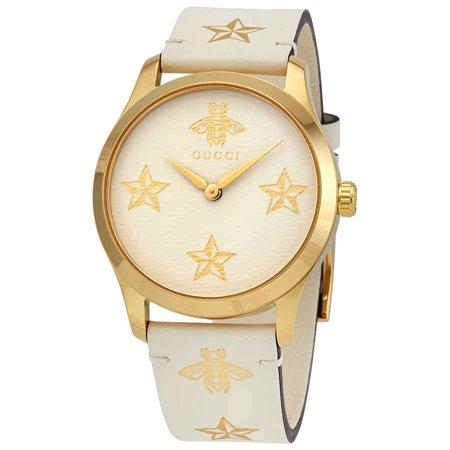 Gucci Quartz White Dial Ladies Watch YA1264096