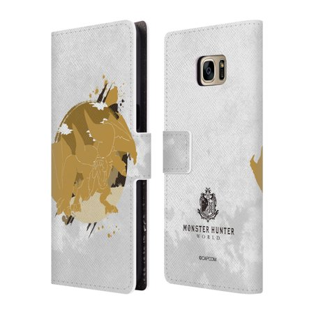 OFFICIAL MONSTER HUNTER WORLD SILHOUETTES LEATHER BOOK WALLET CASE COVER FOR SAMSUNG PHONES 1 ()