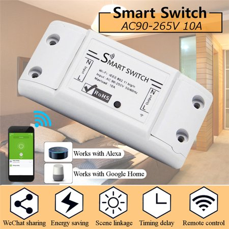 Smart WiFi Switch Alexa Switches Wireless Remote Control Electrical for Household Appliances, Timing Function, Voice Control, Work with Alexa IFTTT Google Home App Control 2200W