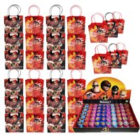 30pc Disney Incredibles 2 Party reusable Goodie Bags Party Favor Bag w/Stampers