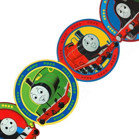 York Wallcoverings 12440949 Thomas Train Circles Prepasted Wall Border Roll