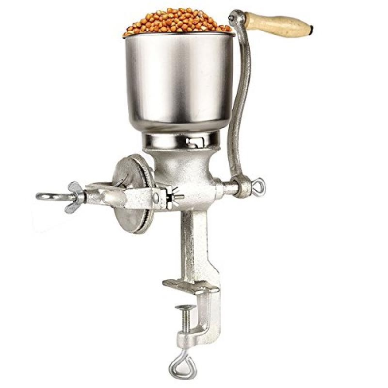 Corn Wheat Grinder Cast Iron Big Hopper Grain Manual Grin...