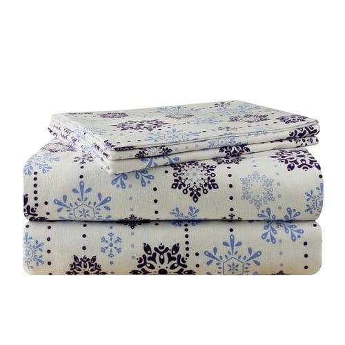 Pointehaven Snow Drop Flannel 100pct Cotton Sheet Set