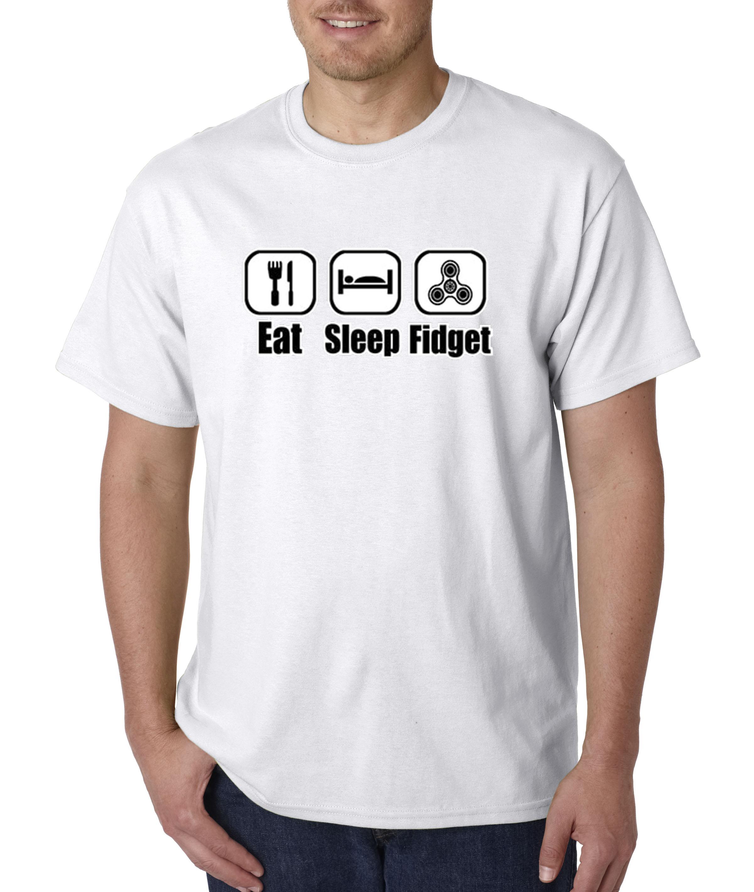 07f6ce2e94a 682 - Unisex T-Shirt Eat Sleep Fidget Spinner Icons - Walmart.com