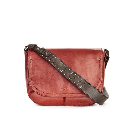 Tignanello Vintage Leather Embellished Strap Crossbody