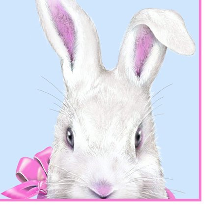 perproducts Design PPD Paper Beverage Napkin, 5 by 5-In Easter Bunny w Pink Bow](Bow Tie Napkins)