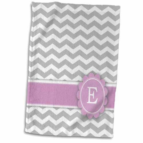 Symple Stuff Henline Letter E Monogrammed on And Chevron with Hand Towel