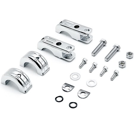 "Chrome 1-1/4"" Engine Guard Tube Bar Footpeg Clamps For Harley Davidson Roadster XLS 1984-1985 - image 2 de 5"