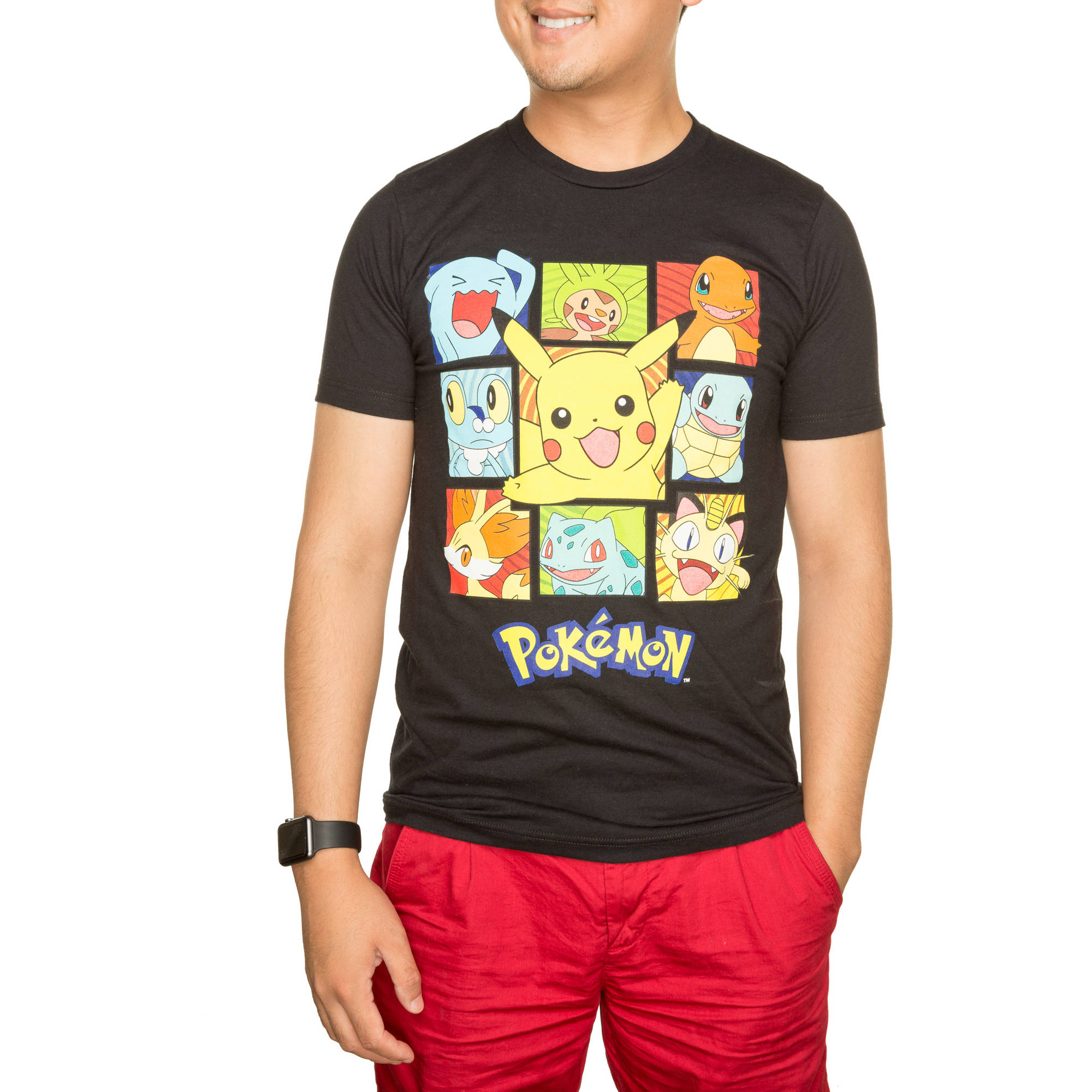 Pokemon Men's Pika Squares Graphic Tee