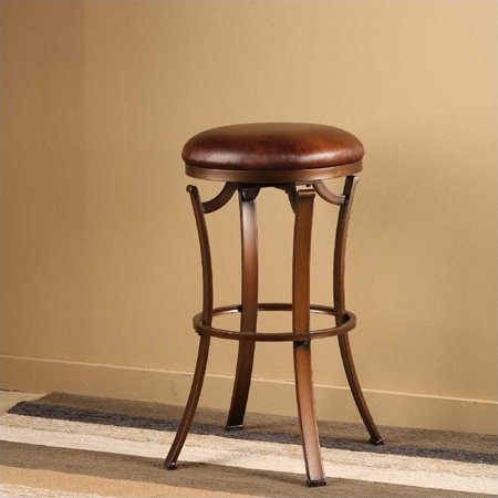 Hilale Kelford 30 Backless Swivel Bar Stool In Antique Bronze
