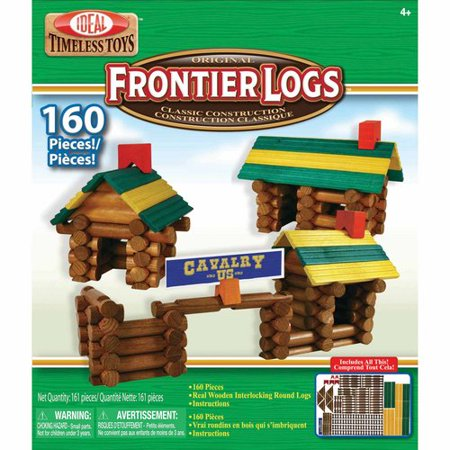 Ideal Frontier Logs Classic All Wood 160 Piece Construction Set