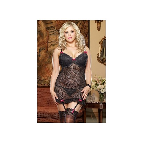 Queen Sensual Desire Tunic 8626X by Dreamgirl Black