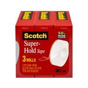 Scotch Super Hold Tape, 3/4 in. x 800 in. per Roll, Clear, 3 Rolls