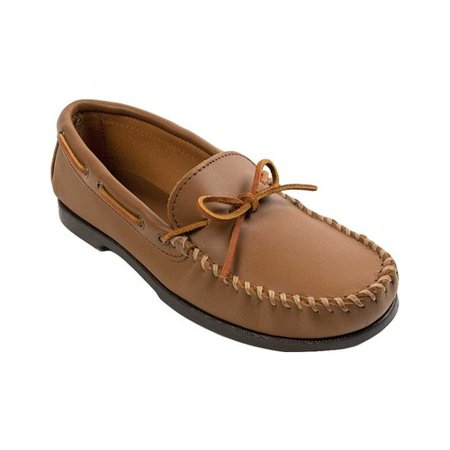 Men's Minnetonka Camp Moccasin Leather Suede Moccasins
