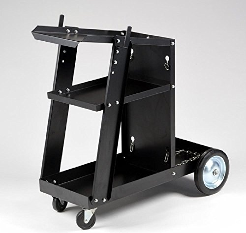GHP Universal Wheeled Welding Storage Cart for Tanks and Accessories