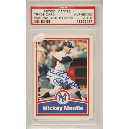 Mickey Mantle New York Yankees Autographed Trading Card - C98350 - PSA/DNA (Mickey Mantle Autograph Baseball)