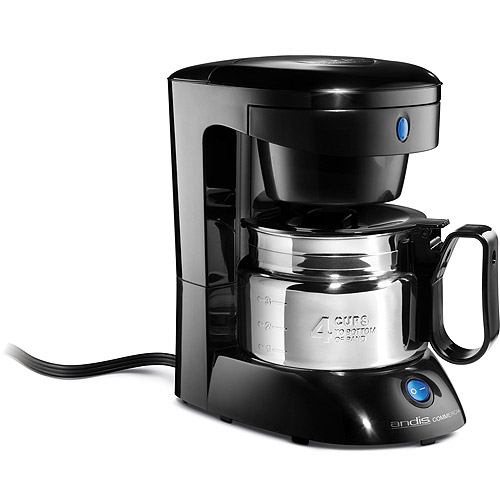 Andis 4-Cup Coffee Maker, 69045, Black/Stainless Steel