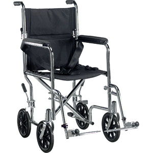 """Deluxe go-kart transport chair 19"""" seat, chrome part no. tr19 (1/case)"""
