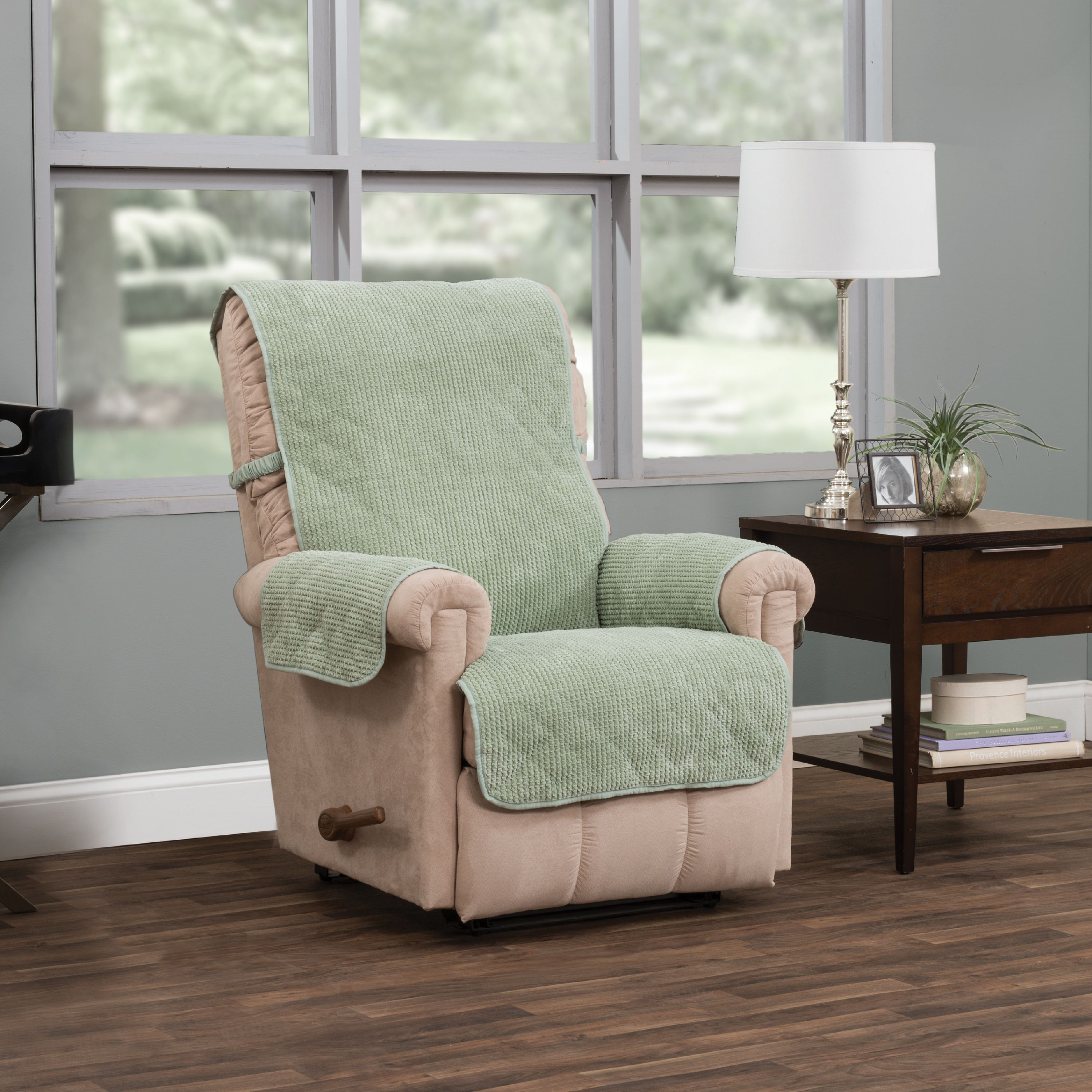 Innovative Textile Solutions Ripple Plush Recliner Furniture Cover Slipcover
