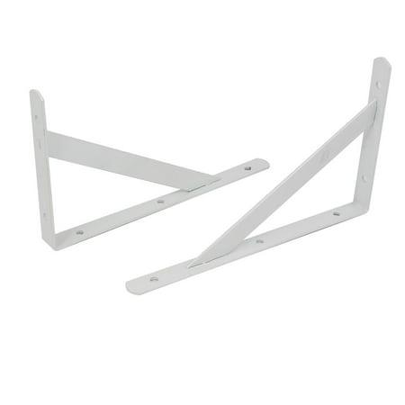 (200mmx120mm L Shaped Angle Shelf Bracket Support Holder Corner Brace White 2pcs)