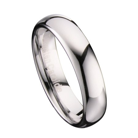 5mm Mirror Polished Comfort Fit Ring Tungsten Carbide Wedding