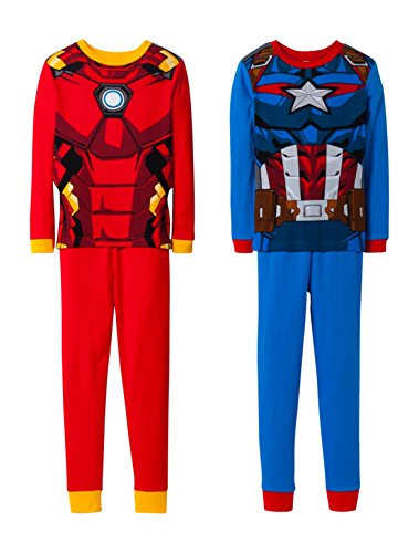 Avengers Marvel 4 Piece Cotton Boys Pajama Set - Blue (10)