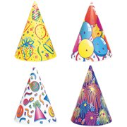 Birthday Party Hats, Assorted 8ct