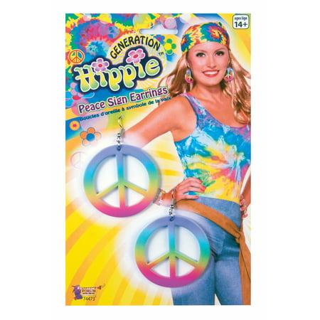 Adult Peace Sign Earrings](Peace Sign Headband)
