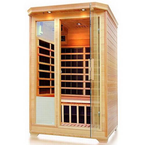 ALEKO SH2EBRO 2-Person Canadian Hemlock Wood Indoor Dry Infrared Sauna with 8 Carbon Fiber... by ALEKO