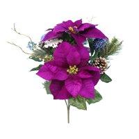Mainstays Mixed Purple Poinsettia Bouquet