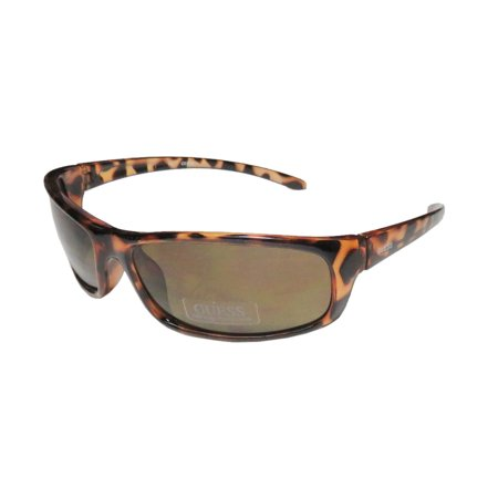 New Guess 6250 Mens Wrap Full-Rim 100% UVA & UVB Tortoise Sporty Budget Male Light Style Wrap Hot Shades Sunnies Frame Brown Lenses 63-16-125 Sunglasses/Sun (Budget Sunglasses)