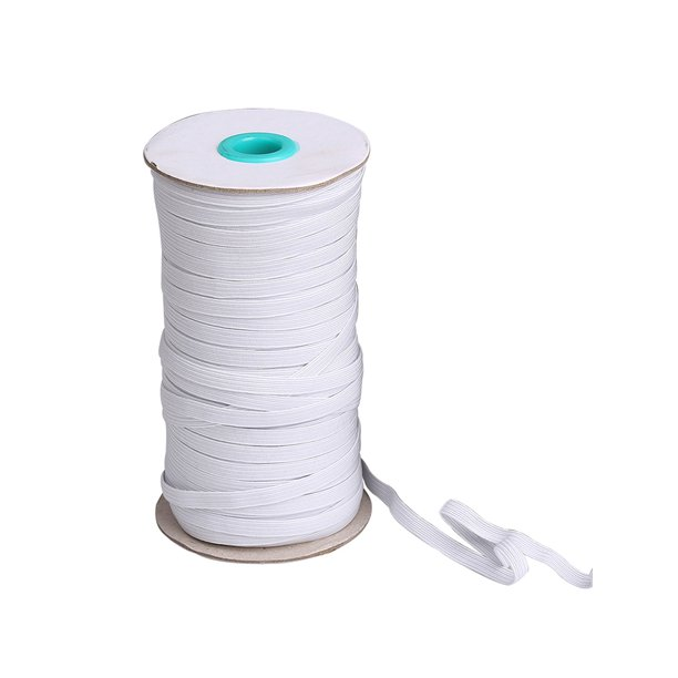 Selfieee Elastic Band Elastic Rope Heavy Stretch Knit Elastic Spool For Sewing Crafts Diy Mask 00091 White 144 Yards 5mm Walmart Com Walmart Com