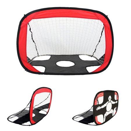 Kids Dual-use Foldable Portable Football Target Shot Goal Net Door