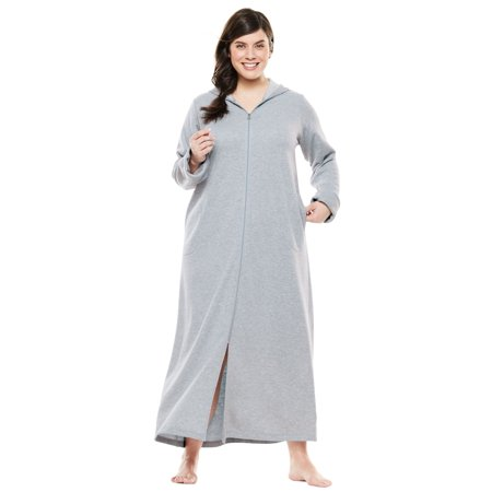 e8a03c960fc Dreams   Co. - Plus Size Hooded Fleece Robe By Dreams   Co ...