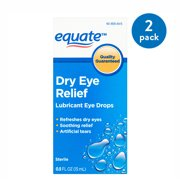 Equate Dry Eye Relief Lubricant Eye Drops, 0.5 oz, 2 Pack