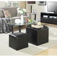 Convenience Concepts Designs4Comfort Park Avenue Single Ottoman with Stool