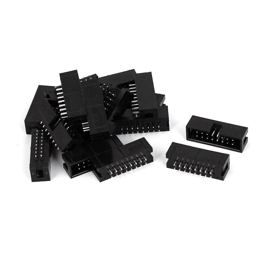 18pcs 2.54mm Pitch 2x8 16-Pin Box Header IDC Socket Straight Male Connector